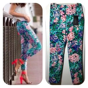 Zara Floral Print Ankle Pants/Trousers